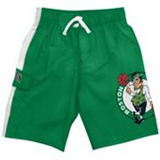 Boston Celtics Cargo Swim Trunks - Boys 8-20