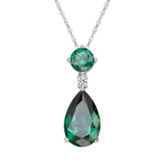 Emotions Sterling Silver Teardrop Pendant - Made with Swarovski Cubic Zirconia