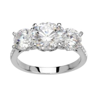 Emotions Sterling Silver 3-Stone Ring - Made with SWAROVSKI ZIRCONIA