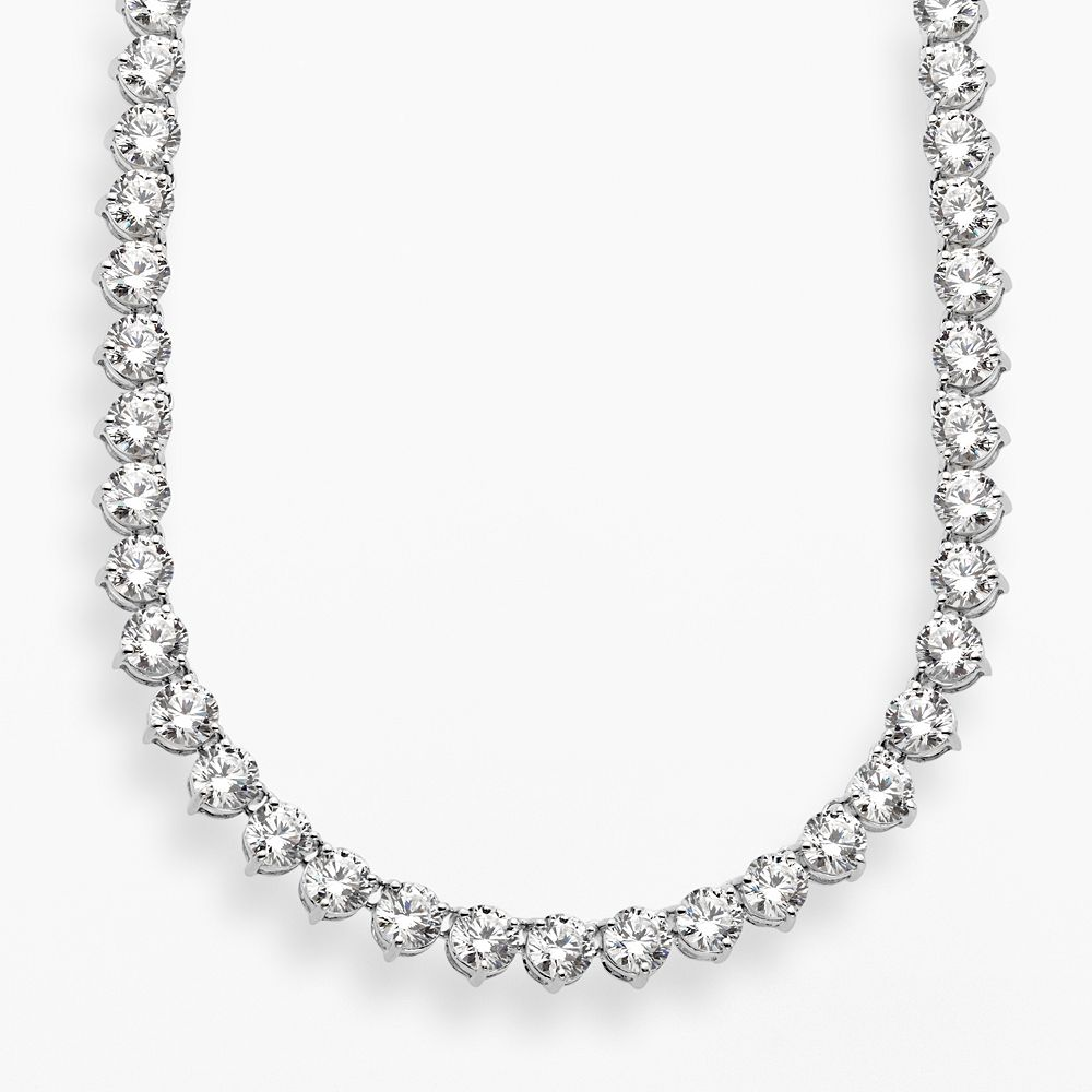 Emotions Sterling Silver Cubic Zirconia Necklace