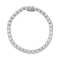 Emotions Sterling Silver Bracelet - Made with Swarovski Zirconia