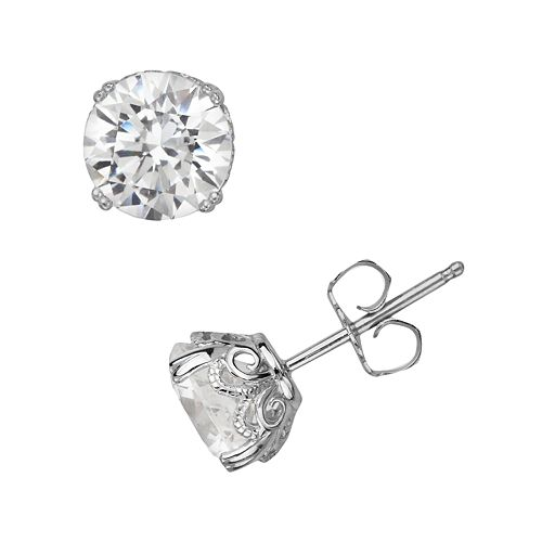 238ebb71a Emotions Sterling Silver Solitaire Earrings - Made with Swarovski ...