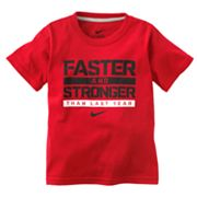 Nike Faster and Stronger Tee - Boys 4-7