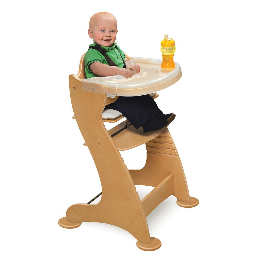 Badger Basket Adjustable Wood High Chair