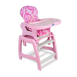 Badger Basket Convertible High Chair and Play Table - Pink