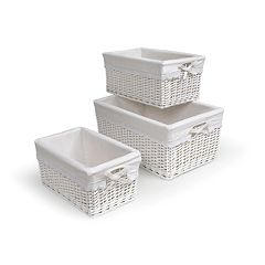 Badger Basket 3 pc Wicker Basket Set