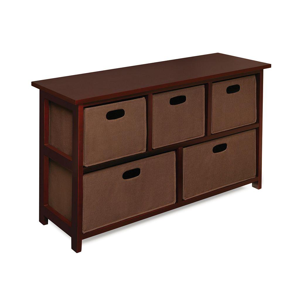 Badger Basket Cherry-Finish Storage Unit