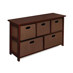 Badger Basket Cherry-Finish Storage Unit