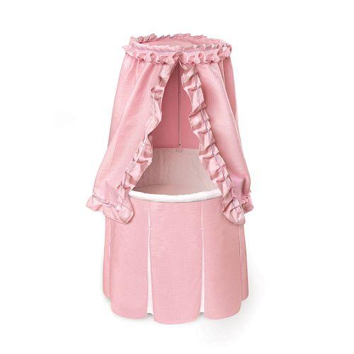 Badger Basket Round Bassinet - Pink