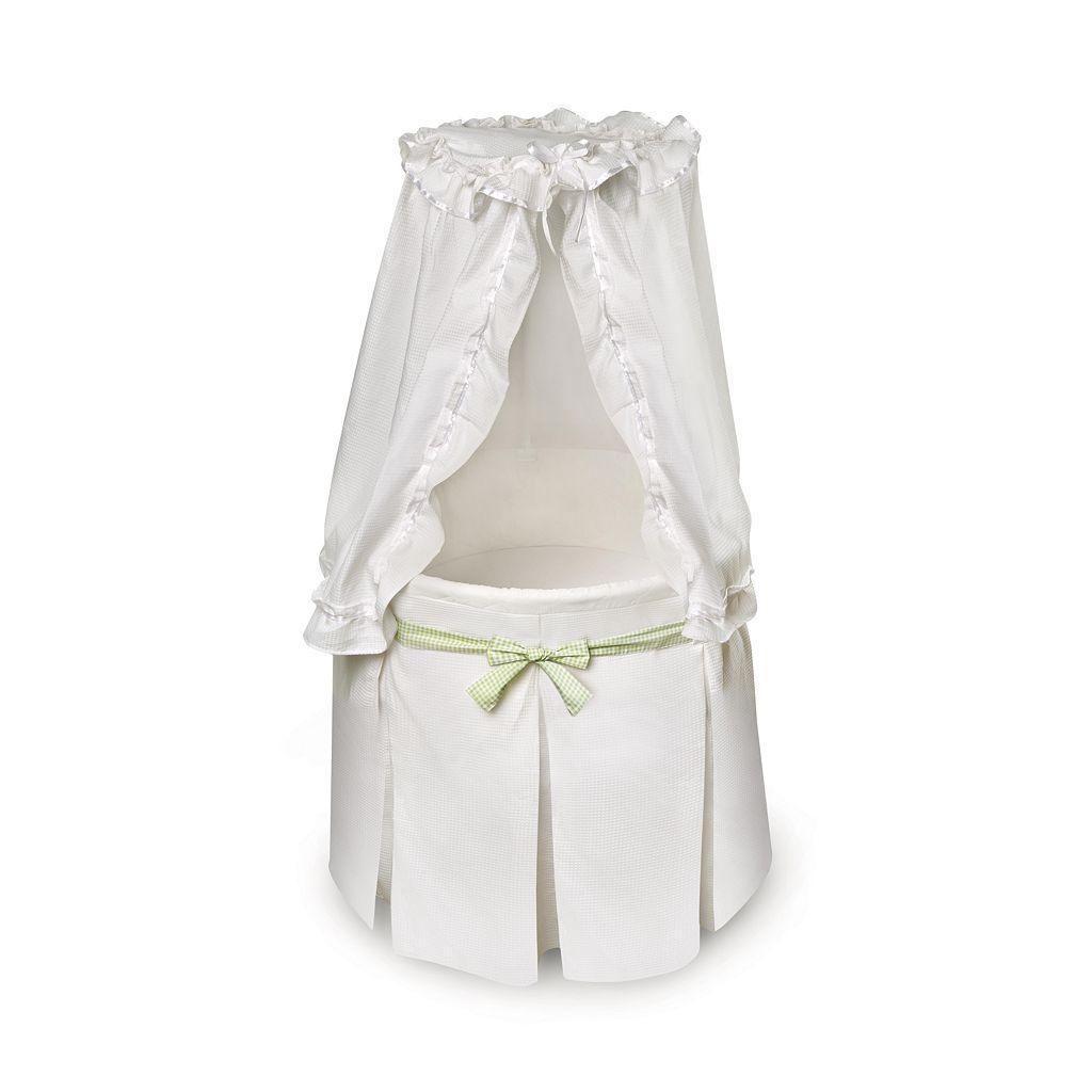 Badger Basket Round Bassinet - White