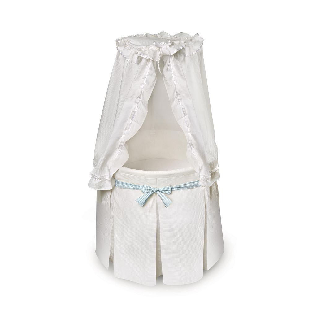 Badger Basket Round Bassinet - White