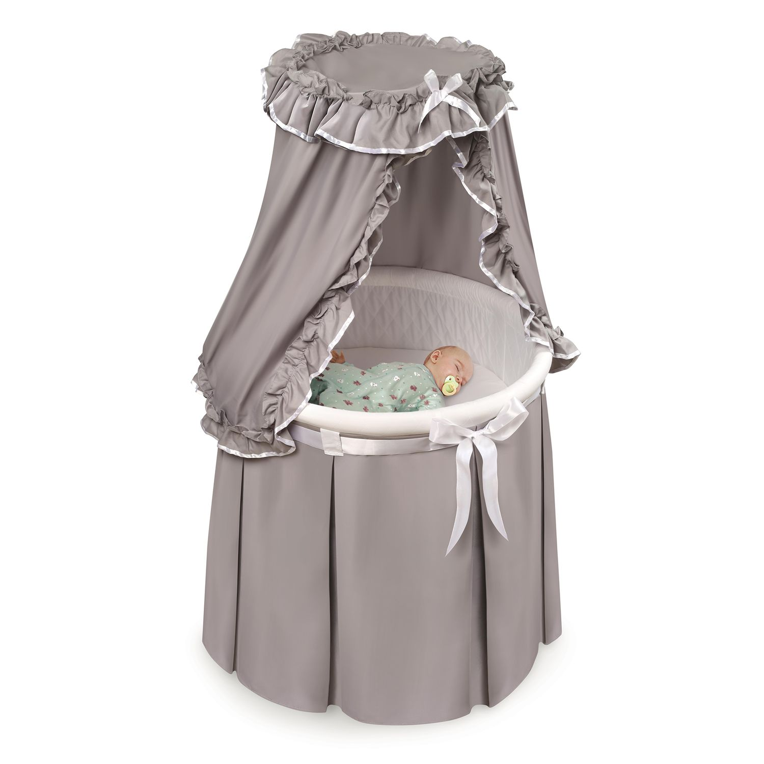 Badger Basket Oval Bassinet   Bows. Regular