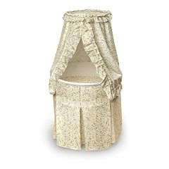 Badger Basket Round Bassinet - Vines