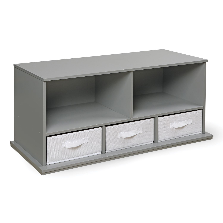 Badger Basket Shelf Storage Cubby. Gray White Pink Espresso