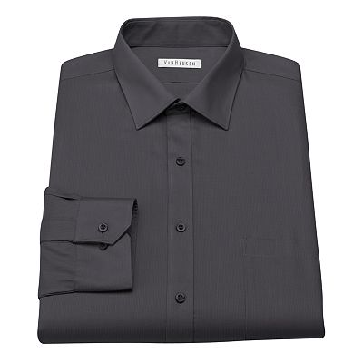 Van Heusen Classic-Fit Pincord No-Iron Spread-Collar Dress Shirt