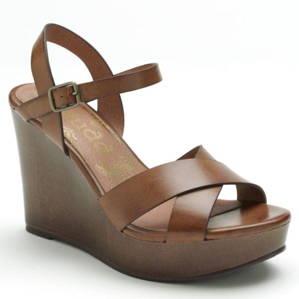 kohls mudd mudd platform wedge sandals
