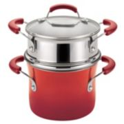 Rachael Ray 3-qt. Nonstick Porcelain Enamel Covered Steamer Set