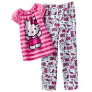 Hello Kitty Striped Pajama Set - Girls