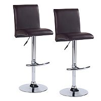 Leick Furniture Gullwing Faux Leather Swivel Stool 2-piece Set
