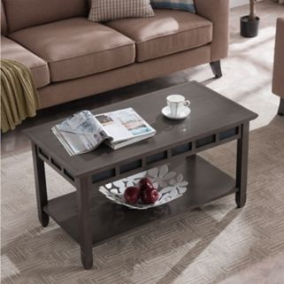 Leick Furniture Rustic Slate Finish Coffee Table