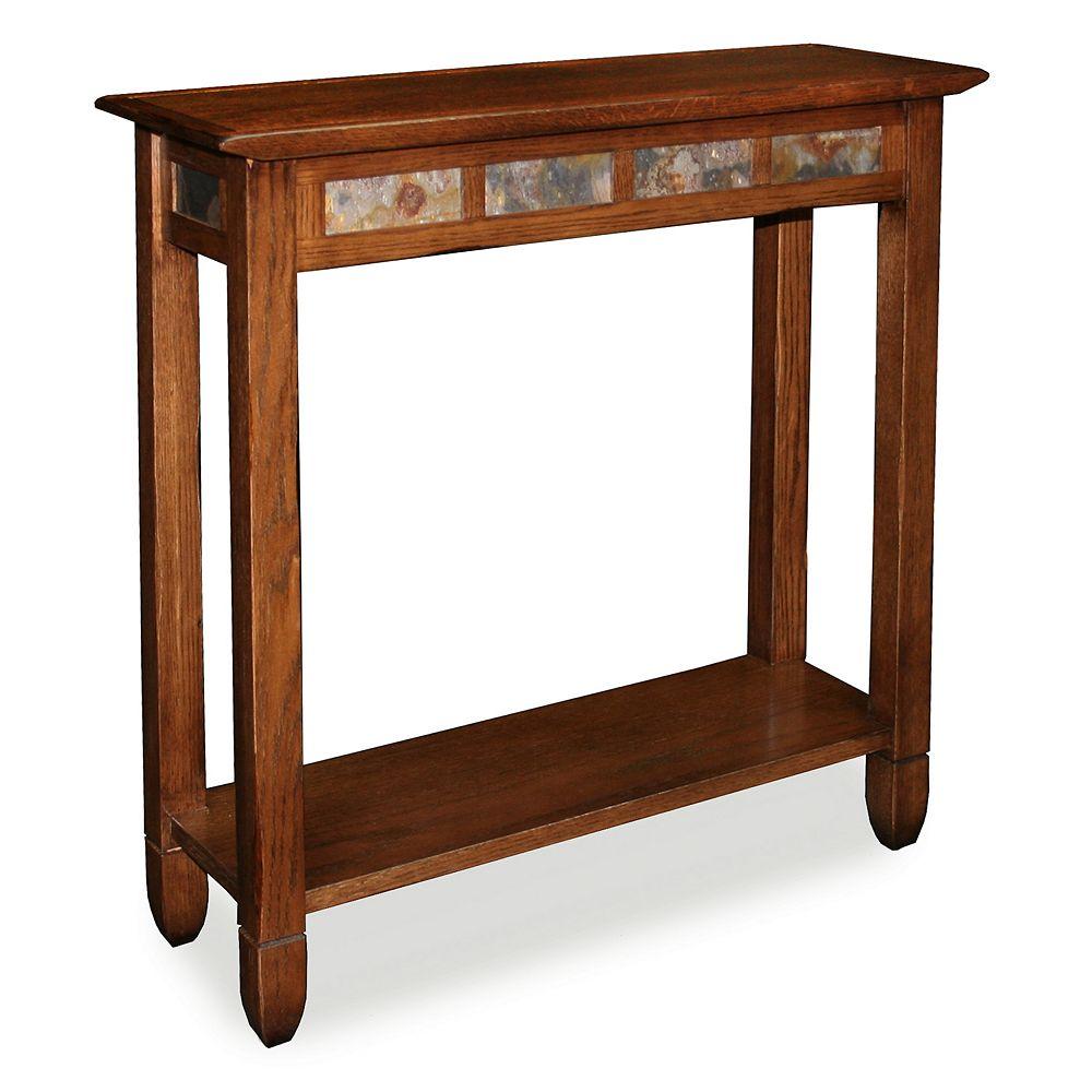 Leick Furniture Rustic Slate Finish Console Table