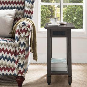 Leick Furniture Rustic Slate Finish End Table