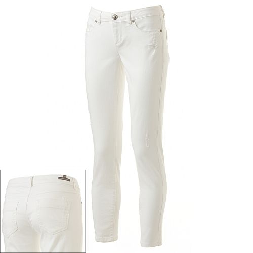 LC Lauren Conrad Distressed Skinny Ankle Jeans