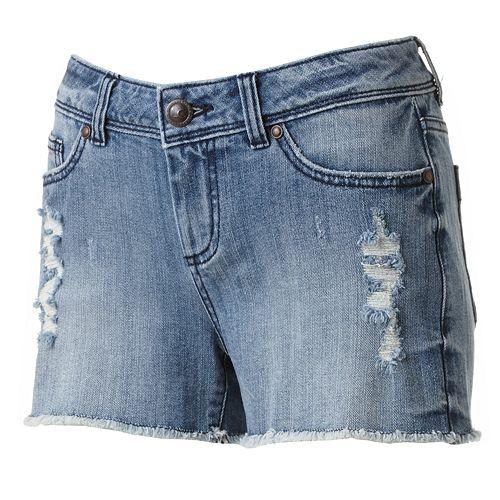 LC Lauren Conrad Distressed Cut-Off Denim Shorts