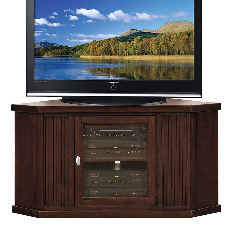 """Leick Home Riley Holliday 46"""" Corner TV Stand, Chocolate Cherry Finish -  Leick Furniture, 86285"""