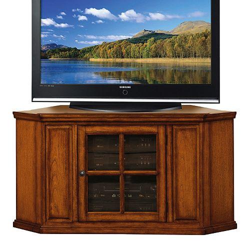 """Jsp Furniture: Leick Furniture 46"""" Corner TV Stand"""