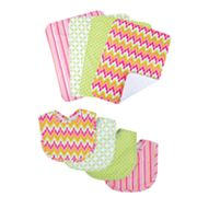 Trend Lab Savannah 8-pc. Bib and Burp Cloth Set