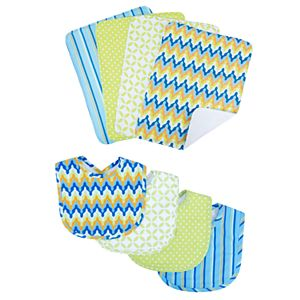 Trend Lab Levi 8-pc. Bib & Burp Cloth Set