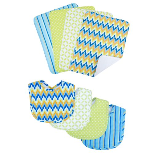 Trend Lab Levi 8-pc. Bib and Burp Cloth Set