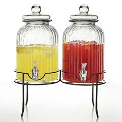 Style Setter Springfield 2 pc Glass Beverage Dispenser Set with Stand