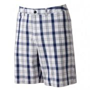 Croft and Barrow Plaid Flat-Front Shorts
