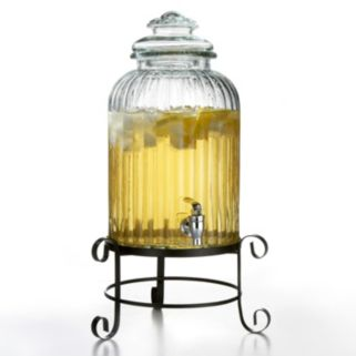 Style Setter Springfield 3-gal. Glass Beverage Dispenser with Stand