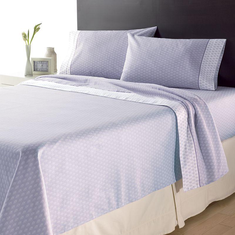 Home Classics Woodblock Flannel Sheet Set - Queen