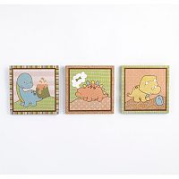 CoCaLo Baby Dinomite 3 pc Canvas Wall Art Set