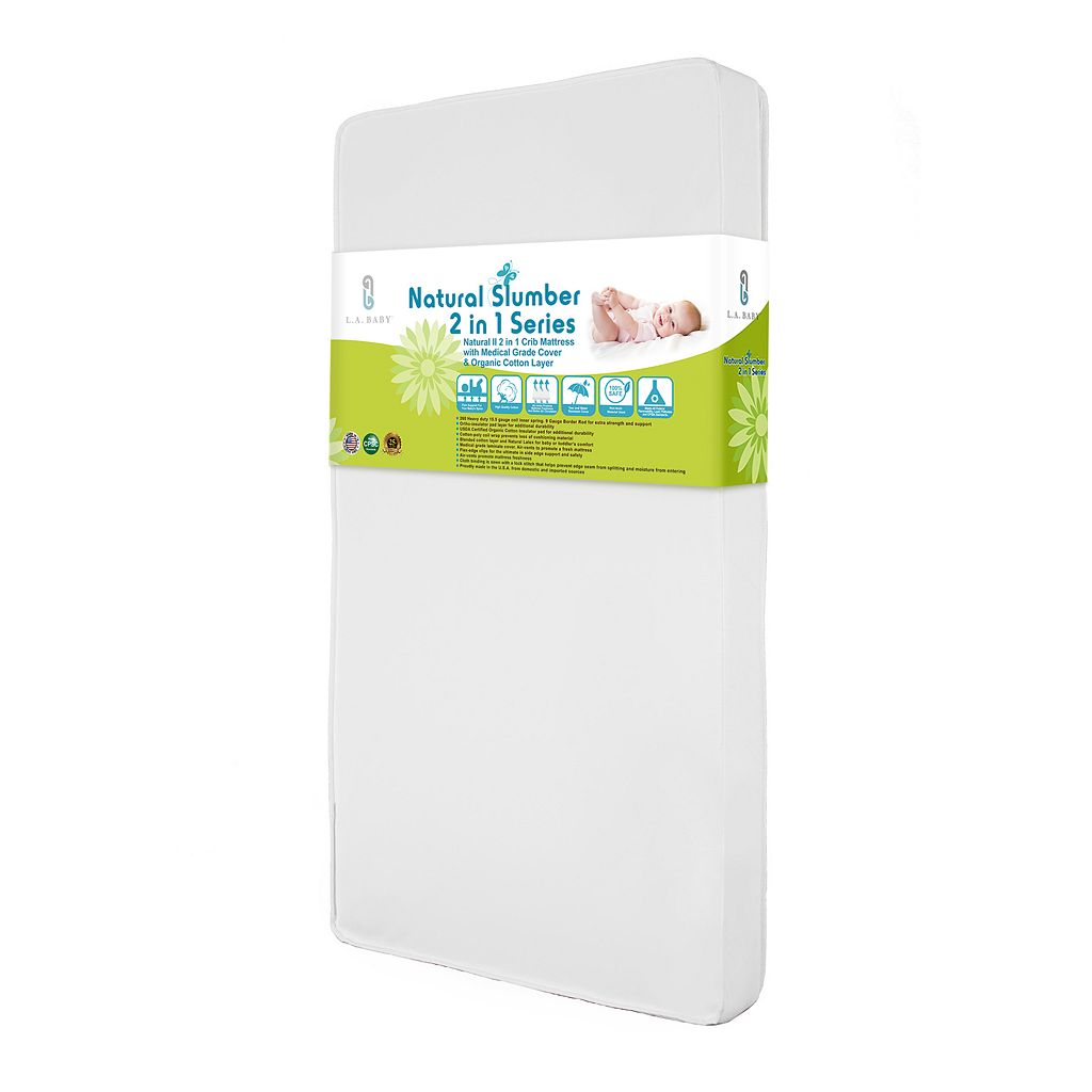 LA Baby Natural II 2 in 1 Crib Mattress with Medical Grade Cover