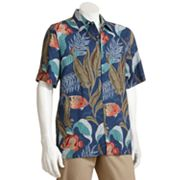 Batik Bay Rayon Tropical Casual Button-Down Shirt