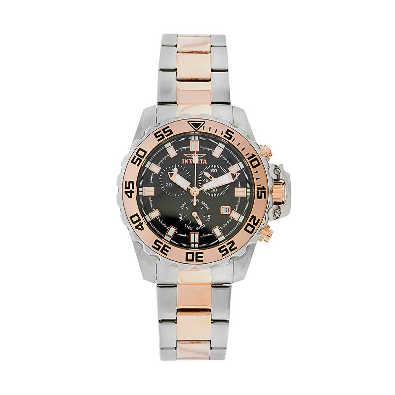 Invicta Two Tone Stainless Steel Chronograph Watch - 13629 - Men