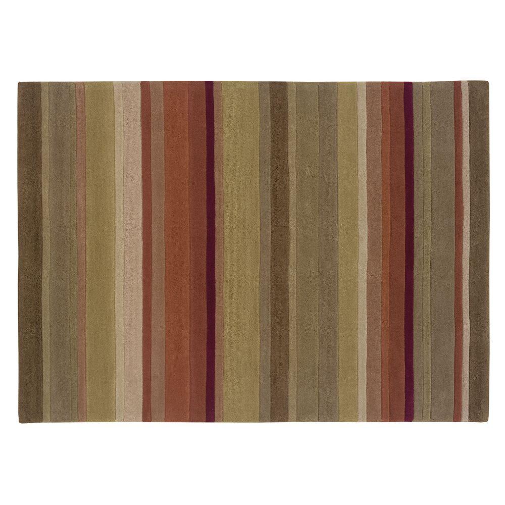 Linon Trio Collection Striped Rug