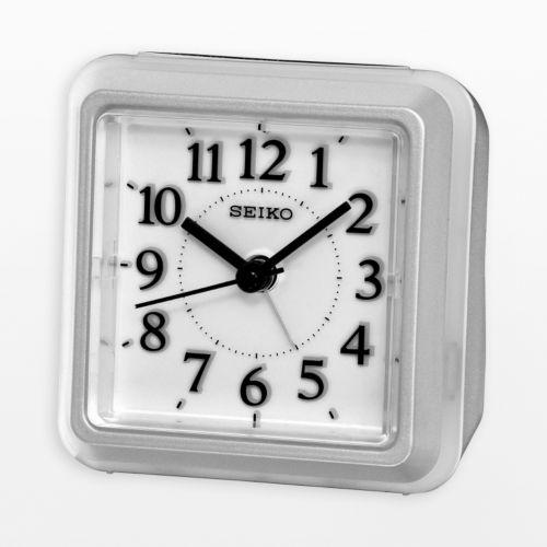 Seiko Hobart Silver Tone Alarm Clock - QHE090SLH