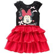 Disney Minnie Mouse Tiered Dress - Toddler