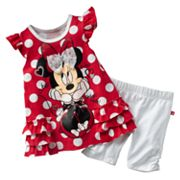 Disney Minnie Mouse Polka-Dot Dress and Leggings Set -  Toddler