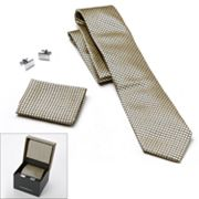 Croft and Barrow Pip Neat Tie, Pocket Square and Cuff Links Boxed Set