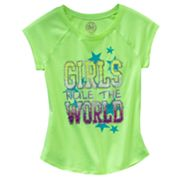 SO Girls Rule The World Neon Tee - Girls Plus