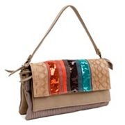Nicole Lee Gia Striped Sequin Convertible Shoulder Bag