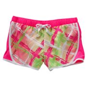 SO Plaid Mesh Neon Performance Shorts - Girls 7-16
