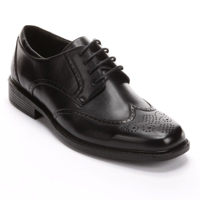 barrow wingtip dress shoes black